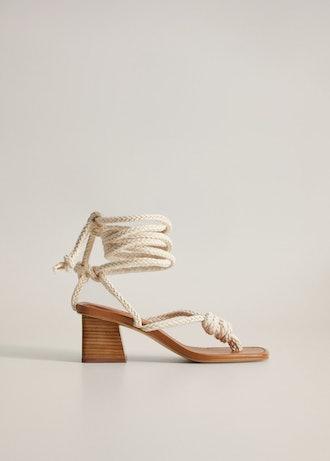Interwoven Cord Sandals