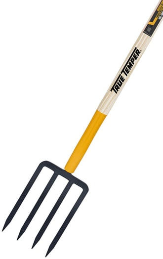 True Temper 4-Tine Spading Digging Fork
