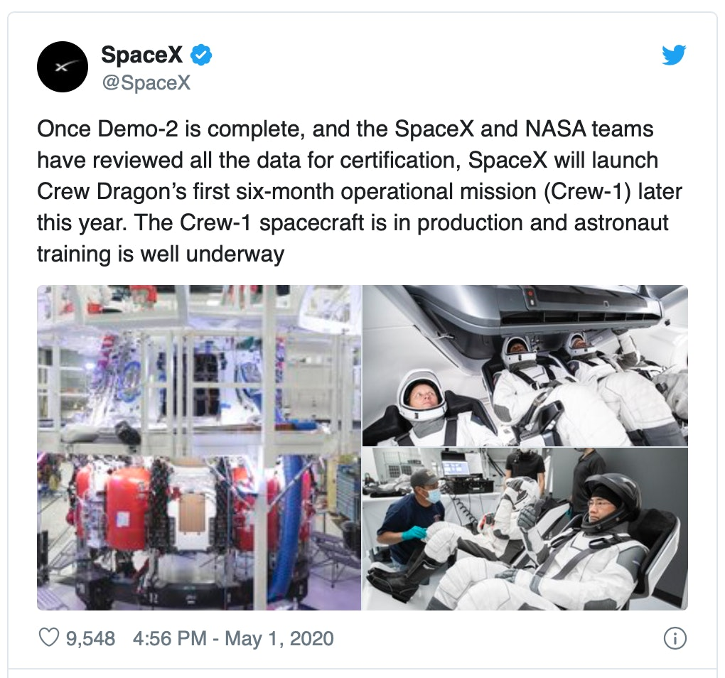SpaceX Crew Dragon: private citizens could fly after NASA astronauts