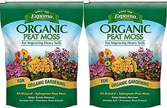 Espoma PTM8 8-Quart Organic Peat Moss (2-Pack)