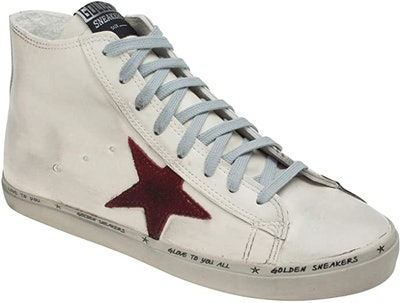 AnnaKastle Womens Fashion Star Lace-up High Top Sneakers