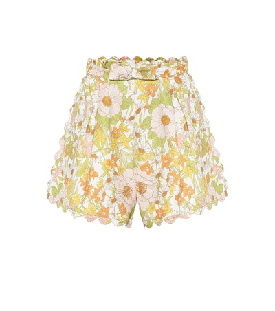 Super Eight Floral Linen Shorts