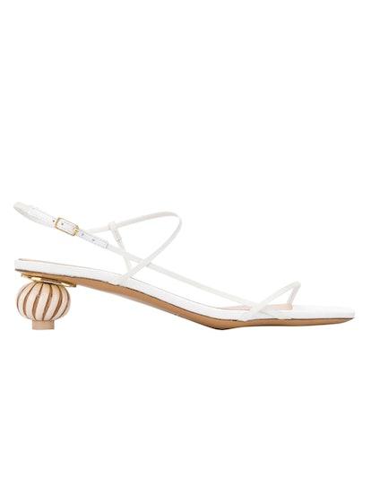 Manosque Sculptural Heel Sandals