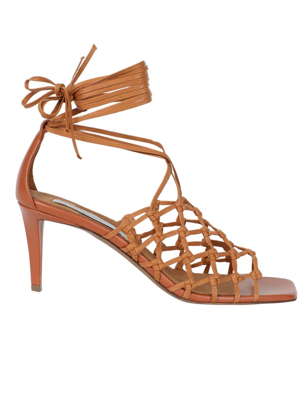 Caramel Woven Fiace Sandals