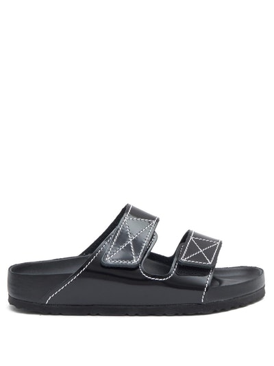 Arizona Leather Slides