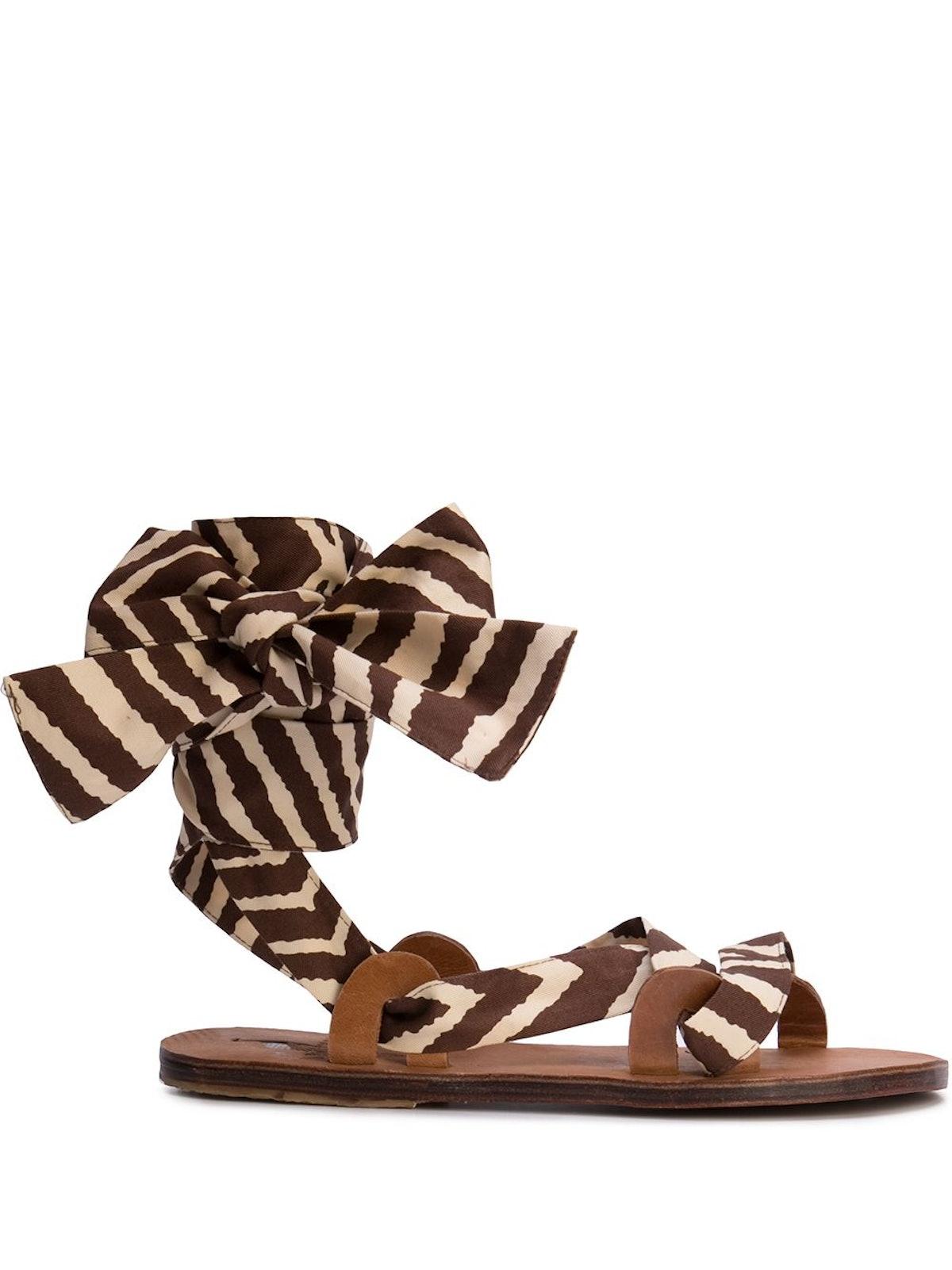 Zebra Flat Sandals