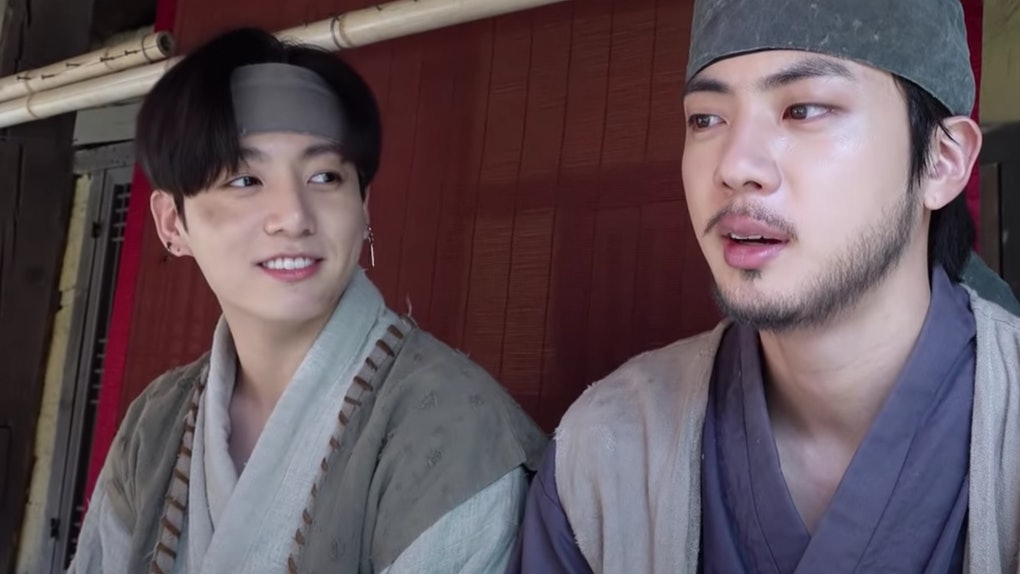 """Jin and Jungkook from BTS had cameos in Suga's """"Daechwita"""" video."""