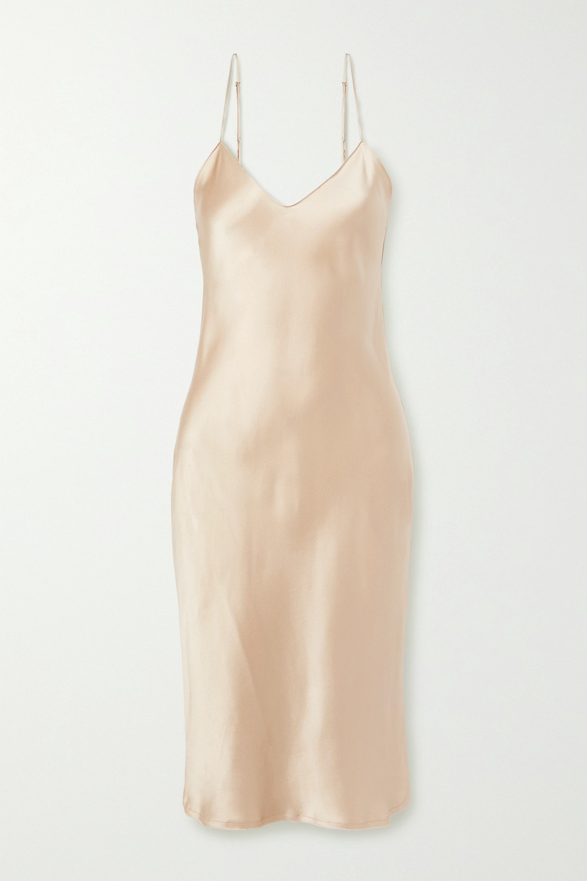 Silk-Charmeuse Dress