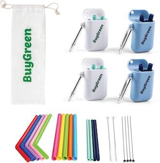 BuyGreen Reusable Silicone Straws