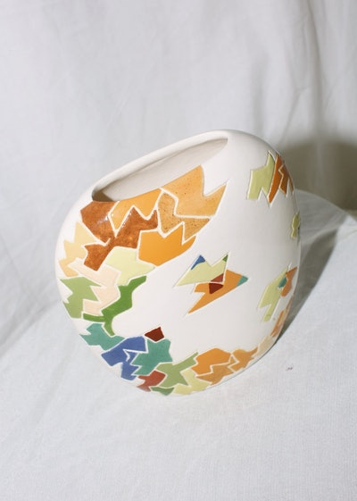 Vintage Ceramic Mozaic Pattern Vase