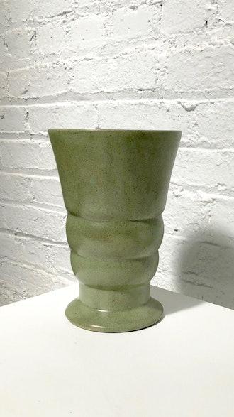 Vintage Sage Ceramic Vase