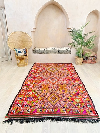 Large Colourful Moroccan Rug