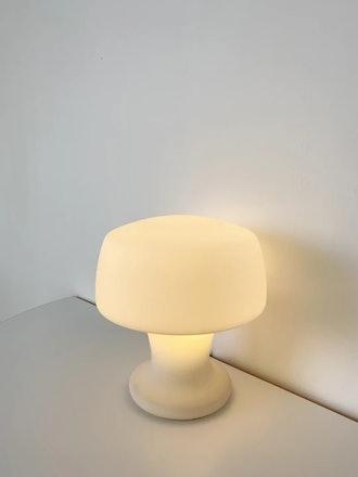1960s Frosted Handblown Glass Laurel Lamp Co Mushroom Lamp