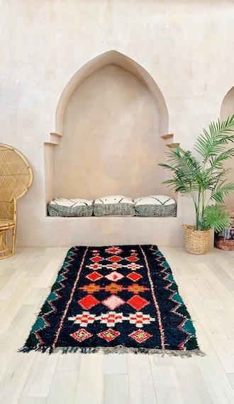 Dark Moroccan Vintage Boucherouite