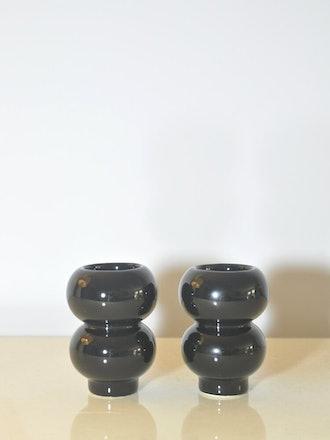 Karim Rashid Black Ufo Salt & Pepper Shakes
