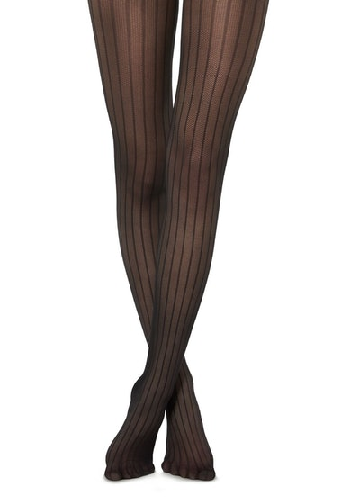 Striped Tulle Effect Tights