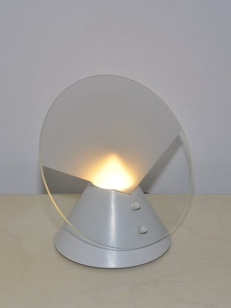 Postmodern Incline Shade Frosted Glass Lamp