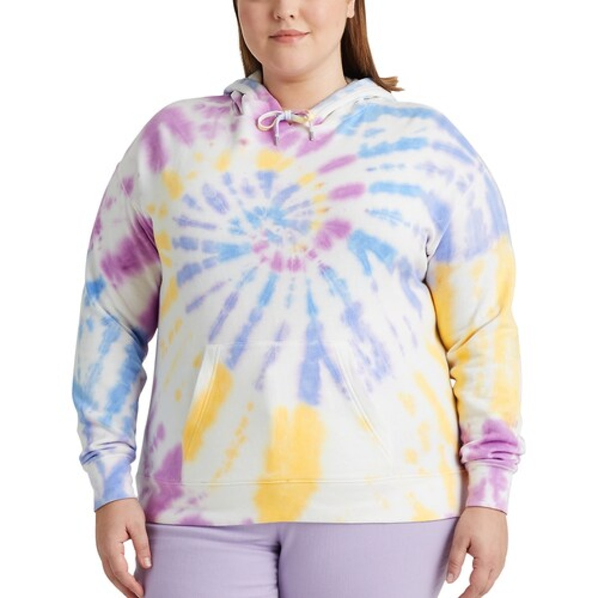 Chap Plus Size Tie Dye Hooded Sweatshirt