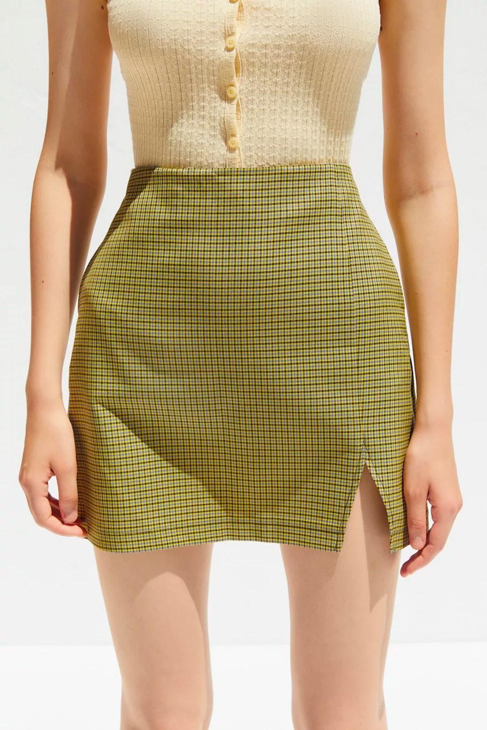 Darren Notched Pelmut Mini Skirt