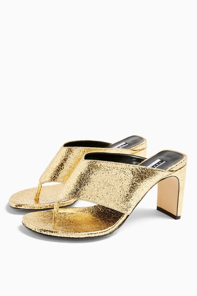 Topshop Considered Valdez Vegan Toe Thong Sandals
