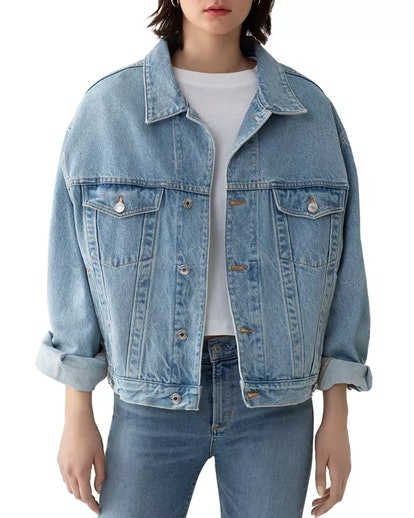 Charli Oversize Denim Jacket in Heed