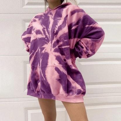 Emerge Fun Women's Fashion Casual Loose Tie-Dye Sweater