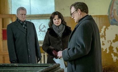 Stellan Skarsgård, Emily Watson, and Jared Harris in 'Chernobyl'