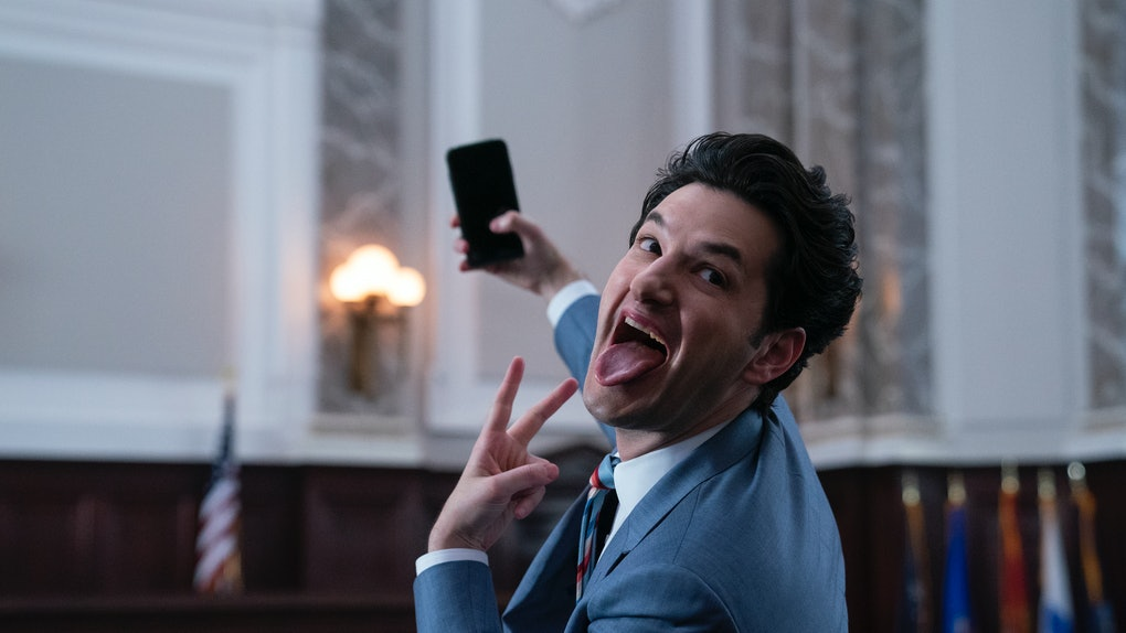 Ben Schwartz as his character F. Tony in 'Space Force'