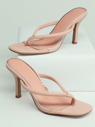 Shein Square Toe Stiletto Heel Y-Strap Sandals