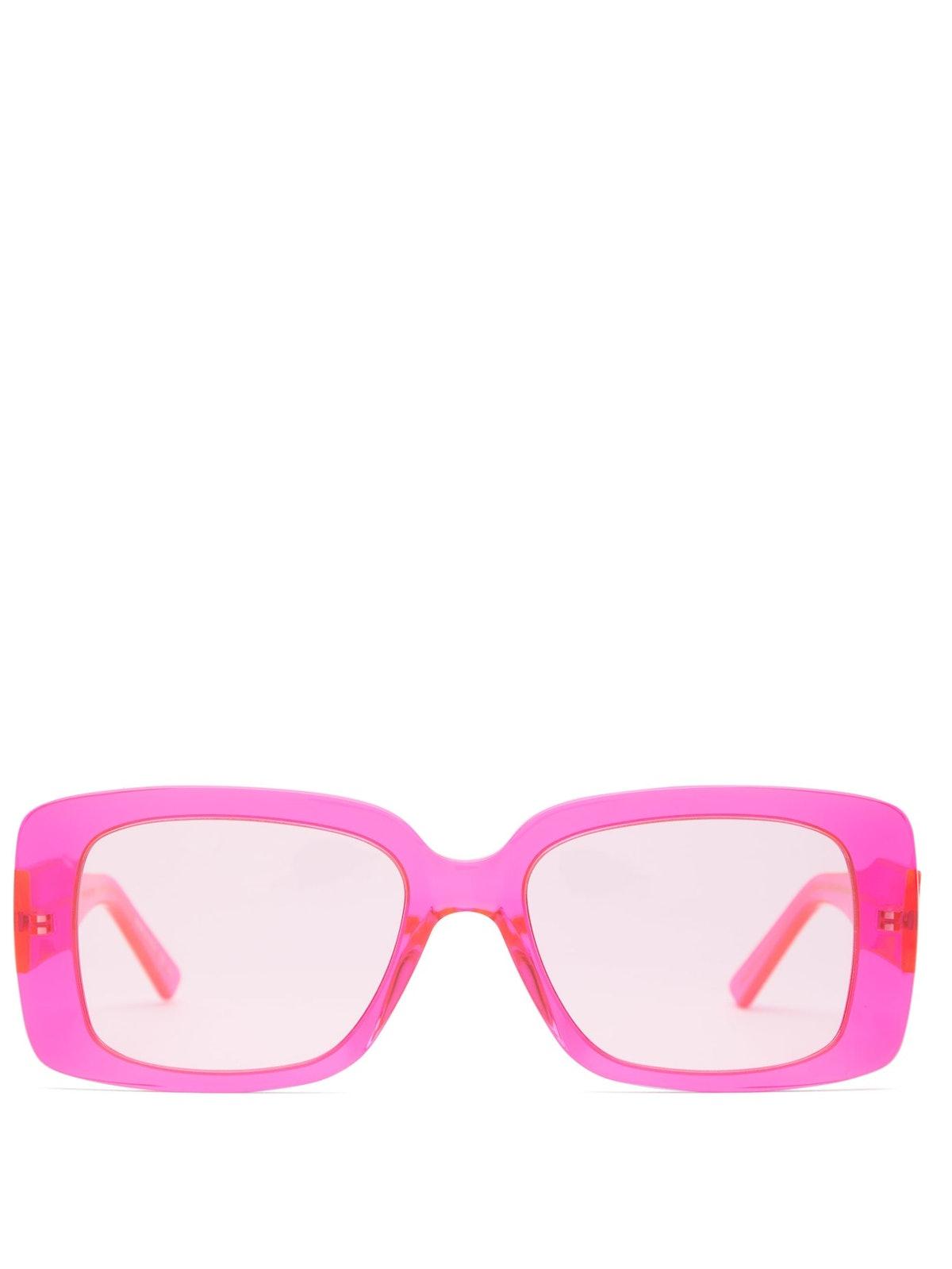 Square Logo-plaque Acetate Sunglasses