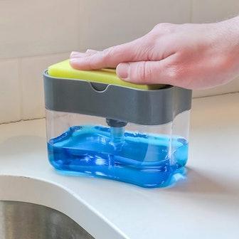 S&T INC. Soap Dispenser and Sponge Caddy