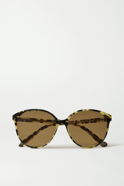 The Row x Oliver Peoples Brooktree Round-Frame Tortoiseshell Acetate Sunglasses