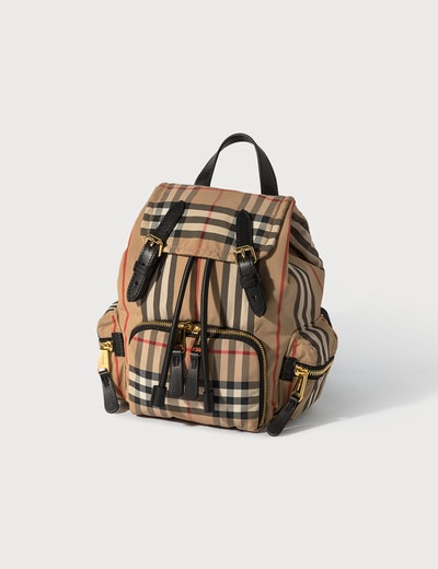 Mini Rucksack In Vintage Check Econyl