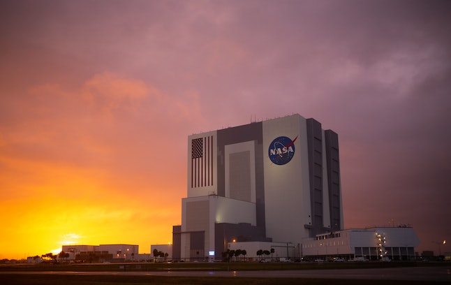 The Vehicle Assembly Building at NASA's Kennedy Space Center in Florida.