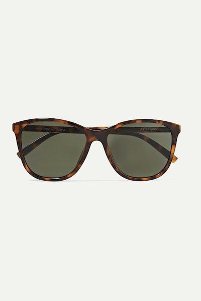 Le Specs Entitlement Cat-Eye Tortoiseshell Acetate Sunglasses