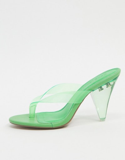 ASOS Design Niko Flip Flop Heeled Sandals