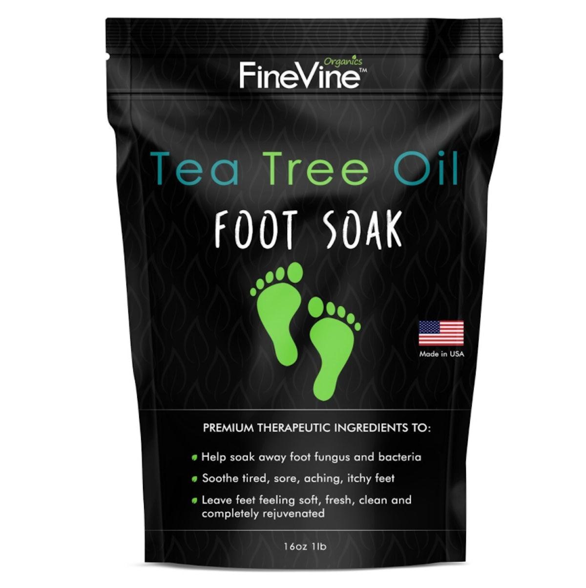 FineVine Organics Tea Tree Oil Foot Soak with Epsom Salt