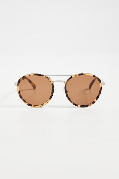 Madewell Brennan Acetate Aviator Sunglasses