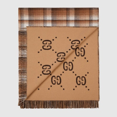 GG Check Throw Blanket