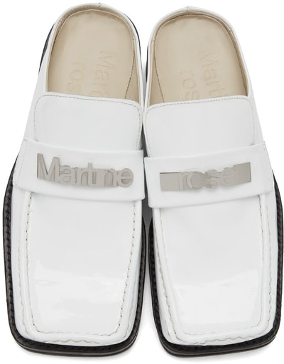 Ssense Exclusive White Patent Leather Loafers
