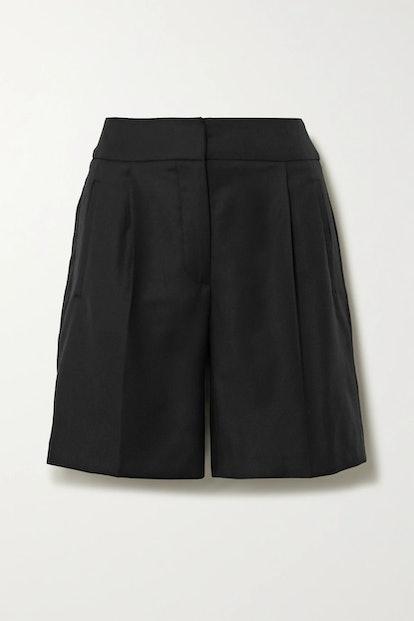 Tureia Wool-Twill Shorts
