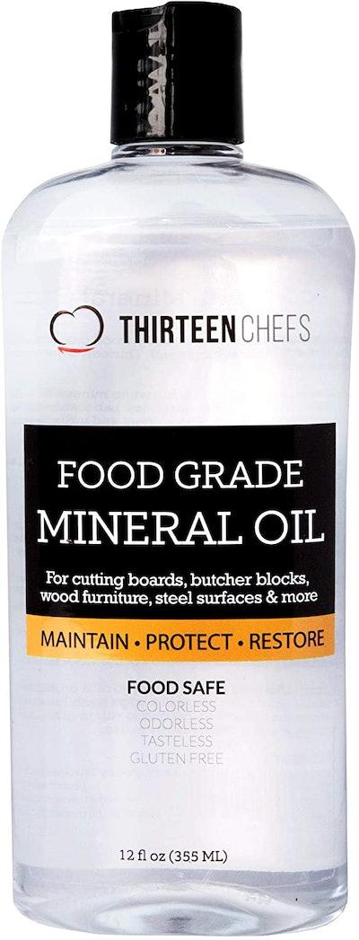 Thirteen Chefs Food Grade Mineral Oil (12 Ounces)