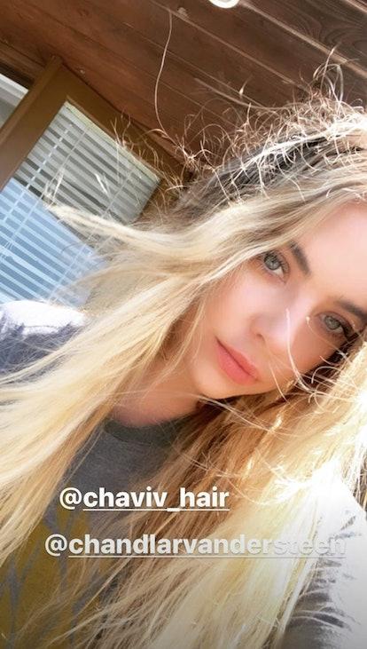 Ashley Benson's long blonde hair is a major change.