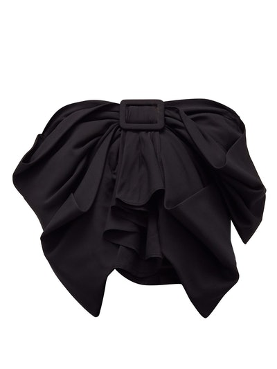 The Attico Bow-Front Cropped Top