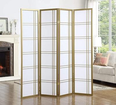 Roundhill Furniture Seto 4-Panel Room Divider