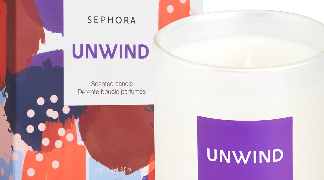 Unwind Scented Candle from Sephora Collection's new candle line.