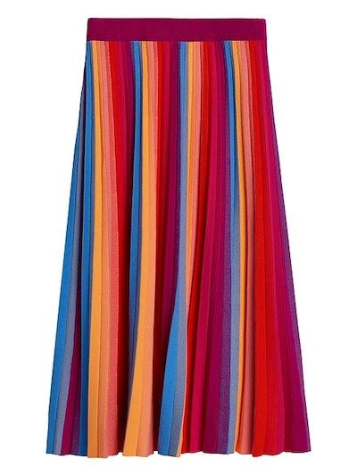 Banana Republic Pride 2020 Rainbow Knit Midi Skirt