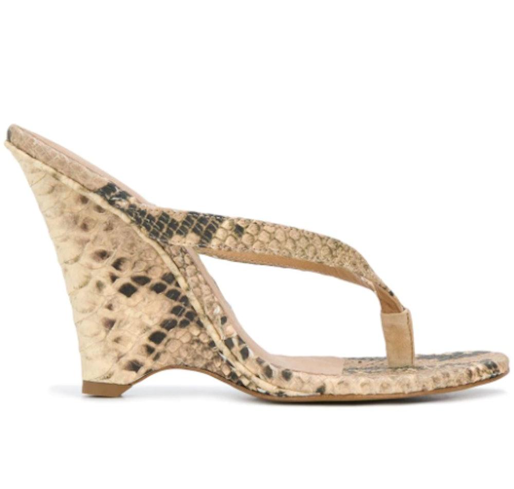 snakeskin effect 110 wedge sandals