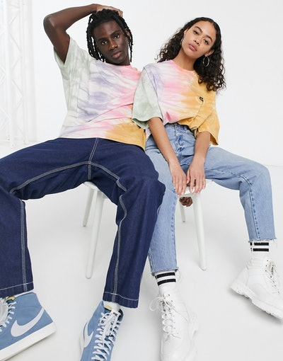 ASOS Design x Glaad& Unisex Oversized T-Shirt with Tie-Dye and Back Print