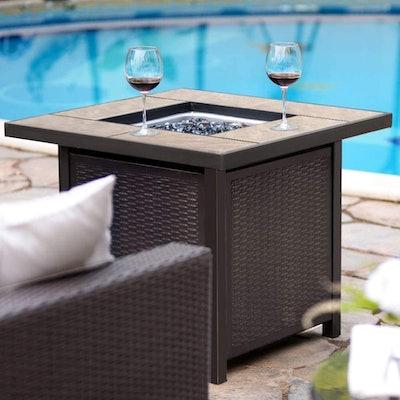 Bali Outdoors Propane Gas Fire Table